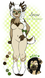 Snow the Reindeer :: ADOPTABLE OPEN by KIWIKlTTEN