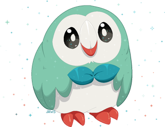 Shiny Rowlet by Willow-Pendragon