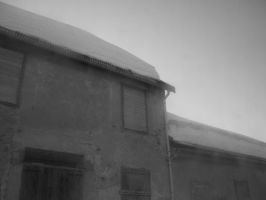 old snowed house by tib07