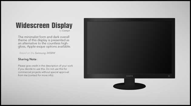 Widescreen Display PSD by Coswyn