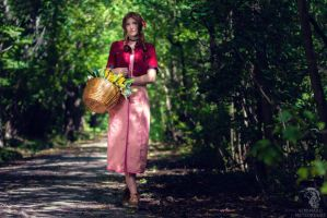 Aerith - Sleeping Forest by SoraPaopu