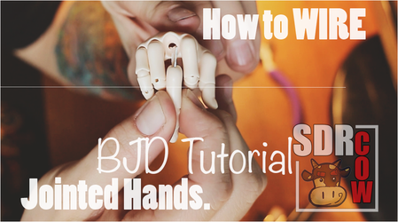 BJD Jointed Hands Tutorial - Wiring by sdrcow