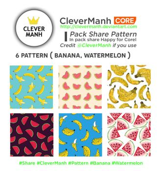 [Pack Share for Corel] 6 Pattern by CleverManh