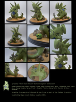 Rock Smash Tyranitar Custom Sculpture Commission