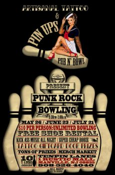 punk rock bowling flyer by bmansnuggles