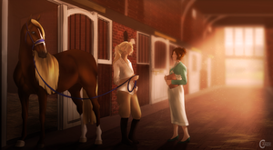 Girl Talk and a Horse by FeatherCandy