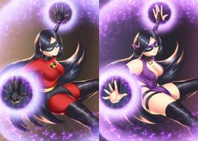 Violet (before-after) by HaryuDanto