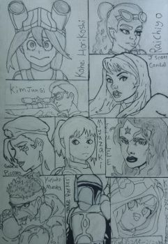 Sketches in different styles by Ncid