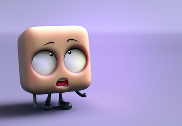Zbrush Doodle: Day 1388 - Peach cube explains by UnexpectedToy