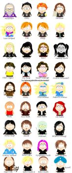 Harry Potter characters in SP-Studio by Lukeeter