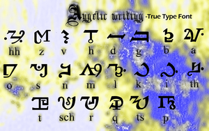 Angelic Writing-True Type Font by goRillA-iNK