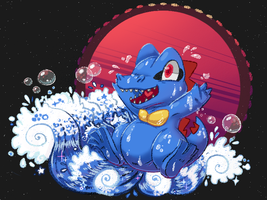 Totodile by raffine-chan