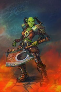 Orc warrior by mary-petroff