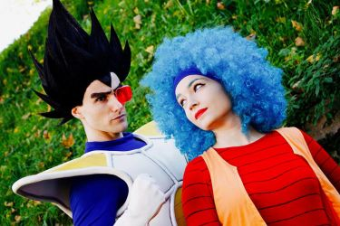 Bulma and Vegeta by PinkLemon91