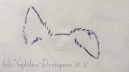 Personalized Dog Ear Simple Lines Tattoo by Nephilim-Draugwen