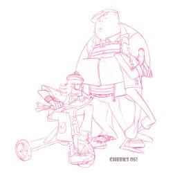 Fat Boy and Harvey cover by cheeks-74