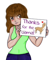 Thanks for the Llama by humanservantyume