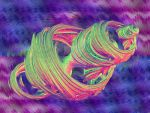 Rainbow quaternion fractal on cool background 17 by Eternatease