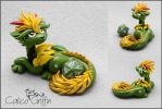 Green Cayo Dragon - dice holder by CalicoGriffin