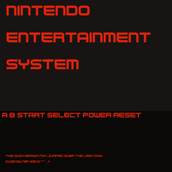 NES Console Controller Font by MrShrike