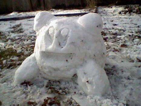 Snow Kirby by sontroidsart