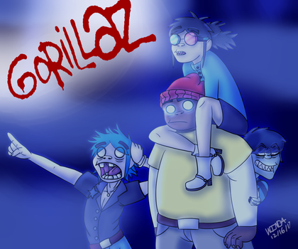 Draw The Squad Gorillaz by MutantWinProductions
