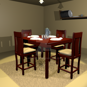 Dining room. by breecolors