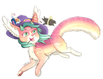 Commission: Ruelle by Foxhatart