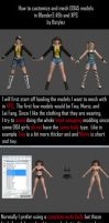 How to make customize DOA5 model in blender 2.49b by bstylez
