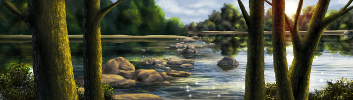 By the Riverside by CranberrytheCat