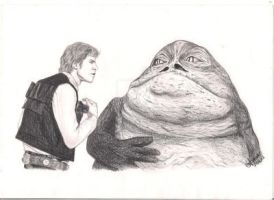 Han Solo and Jabba by Witneil