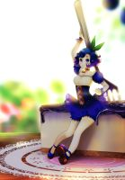 MONTHLY DESSERT: Blue Berry Cheesecake by Hikarisoul2