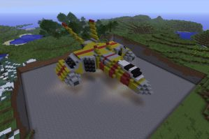 Taiidani attack bomber...In Minecraft?! by Jetstream77
