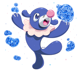 Shiny Popplio by Willow-Pendragon