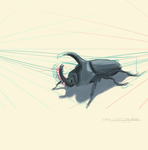 Insect Draw Through (2 point Perspective) by totopc
