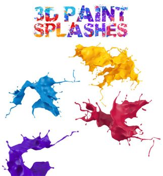 3D paint splash pack for free by genotas