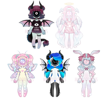 BIG SALE!! Tootheye adopts (CLOSED) by Maladoodles