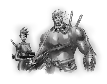 Cable sketches grey scale by profesone