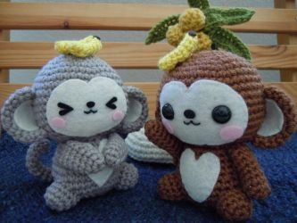 Monkey Amigurumi by cuteamigurumi