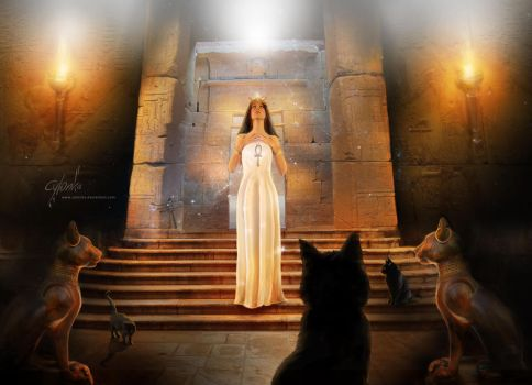 Bast - Egyptian cat goddess by cylonka