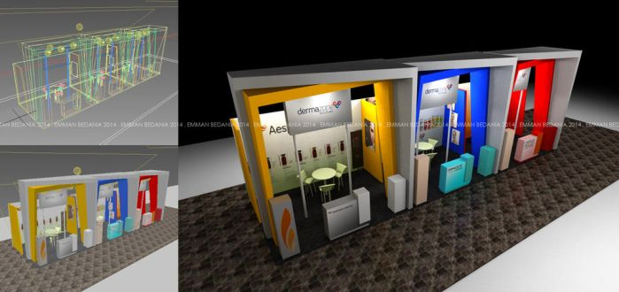 Booth for Dermazone - Birds View Angle by emman03