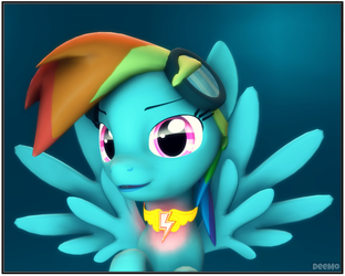 Rainbow Dash portrait by Tac129max
