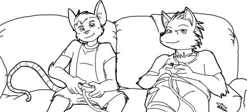 Free Art Friday - Ryon and Shryp by SkyPirateDash
