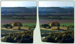 Blick vom Regenstein 3-D / CrossView / Stereoscopy by zour