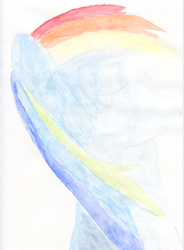 Aquarelle de Rainbow Dash by Helena-Lullaby