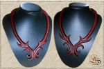 Leather necklace 25 by Eternal-designs-com