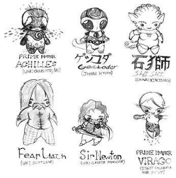 More chibi superheroes by ayellowbirds
