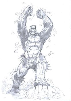 Hulk pencils by MenguzzOArt