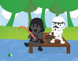 Darth Fishing by NixonGraphix