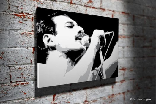 Freddie Pop Art by iamDamianUK
